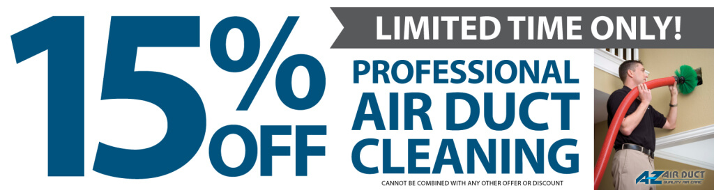 15% OFF Air Duct Cleaning Coupon