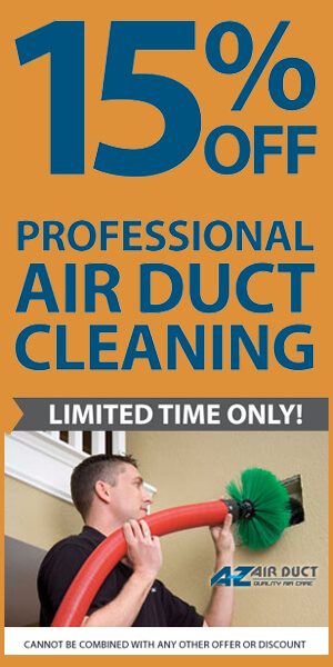 15% OFF Air Duct Cleaning Discount
